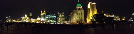Night View The Bund Shanghai