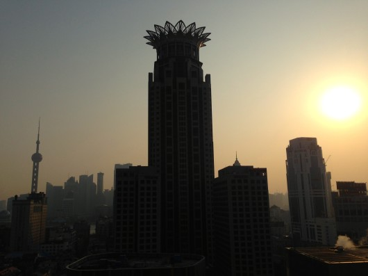 Shanghai Sunrise from Salvo Hotel