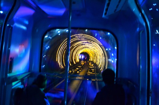 Sightseeing Tunnel ke Pudong Shanghai