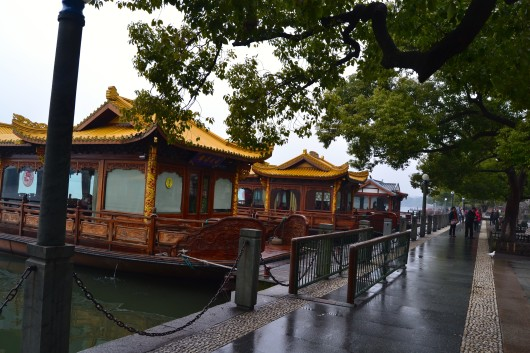 Restoran Terapung di West Lake - Three Pools Mirroring The Moon - Hangzhou