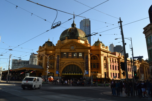 Flinder Station, Melbourne.