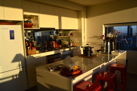 Kitchen Melbourne Airbnb William Street