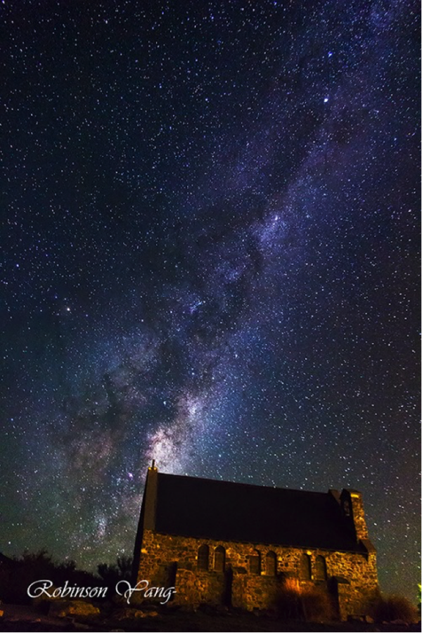 church of the shepherd house lake tekapo Night